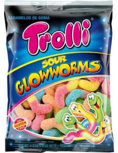 Trolli Sour Glowworms 100g...